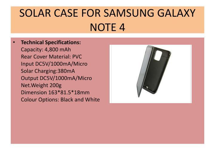SOLAR CASE FOR SAMSUNG GALAXY NOTE 4