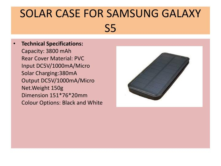 SOLAR CASE FOR SAMSUNG GALAXY S5