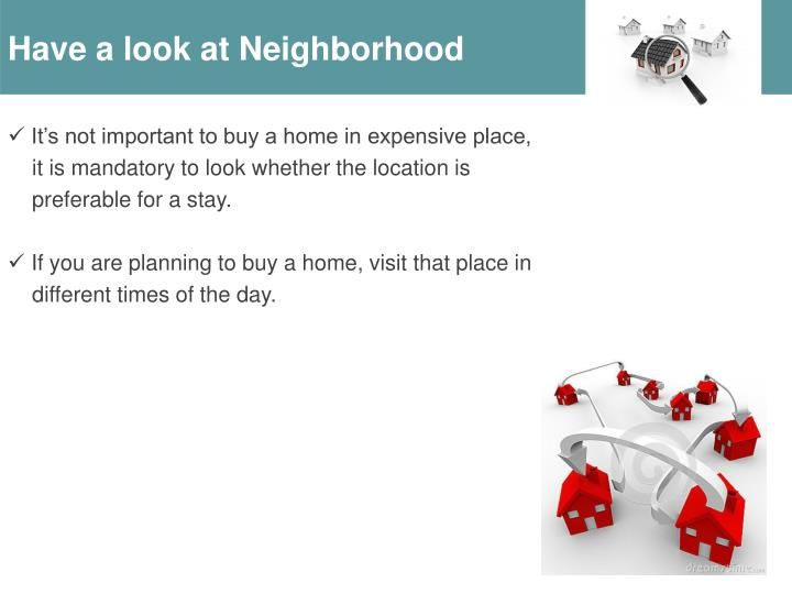 Have a look at Neighborhood