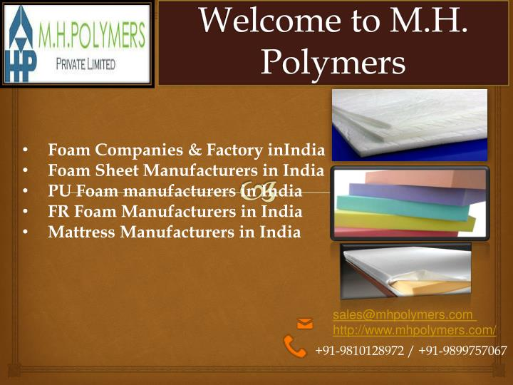 welcome to m h polymers n.