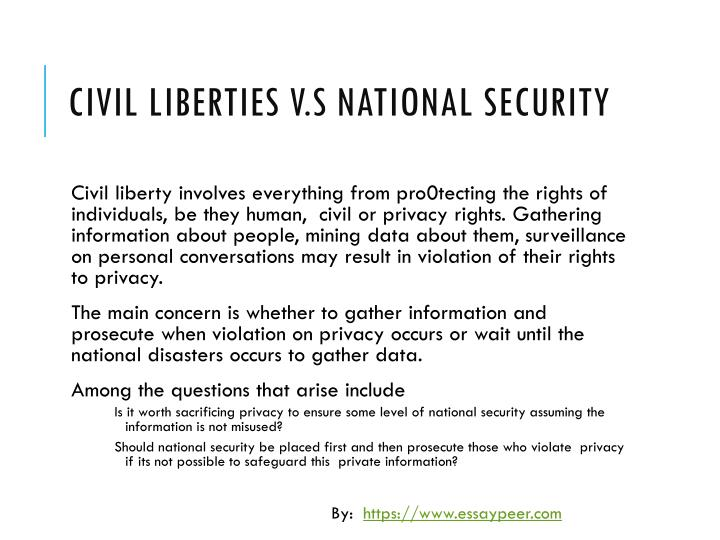 cointelpro national security vs civil liberty essay These documents exposed the fbi's super-secret and profoundly illegal cointelpro program on a civil rights of the national security.