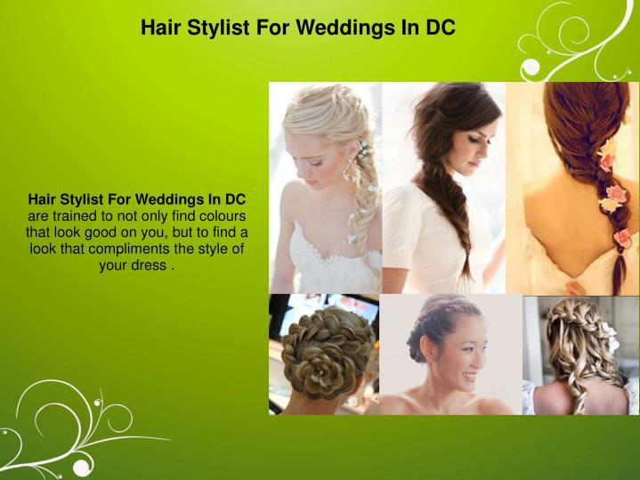 Hair Stylist For Weddings In DC