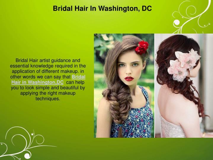 Bridal Hair In Washington, DC