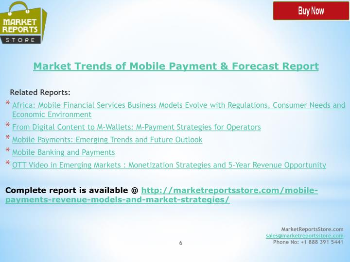 Market Trends of Mobile Payment & Forecast Report