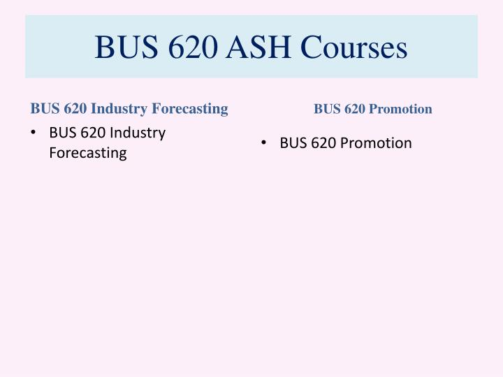 bus620 industry forecasting