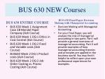 bus 630 new courses1