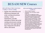 bus 630 new courses5