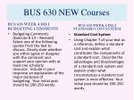 bus 630 new courses8