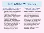 bus 630 new courses9