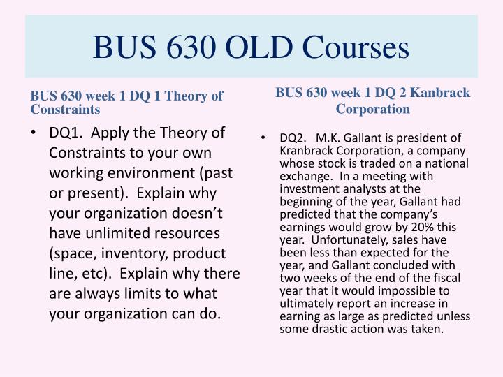 Bus 630 old courses2