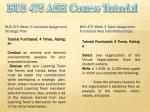 bus 475 ash course tutorial7
