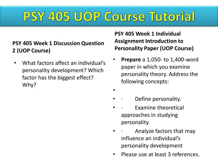 reaction paper on personality thoery Ps315: theories of personality online this course is an overview of the major personality theories and contributing research a research reaction paper.