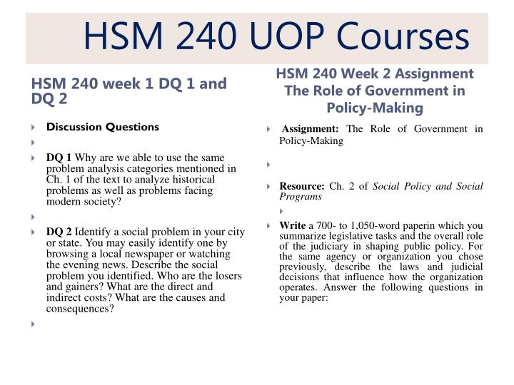 hsm 240 theory design and specification Hsm 240 week 7 checkpoint theory, design, and specification this tutorial was purchased 5 times & rated a by student like you checkpoint: theory, design, and specification resource: ch 7 of social policy and social programs pretend you are in charge of creating a new social program.