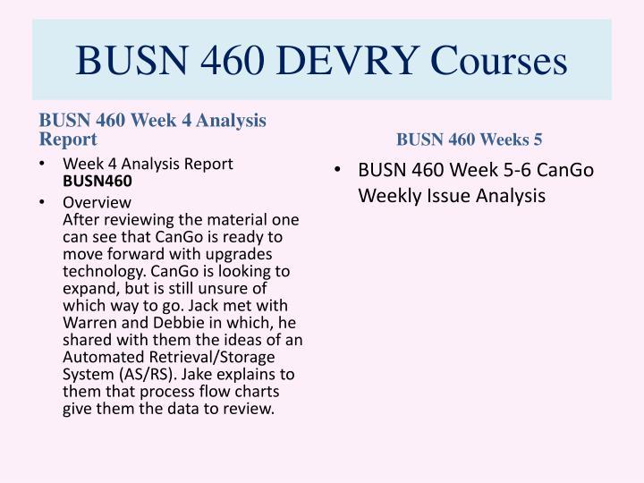 sr project busn 460 cango wk Busn 460 week 3 individual cango financial informatio busn 460 complete class.
