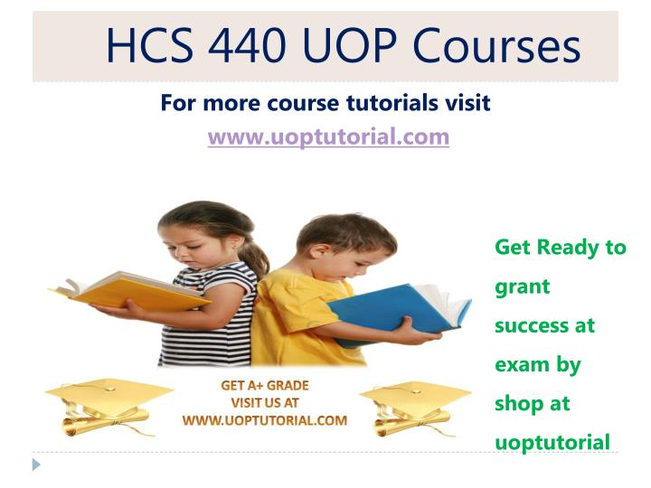 HCS 440 UOP Courses