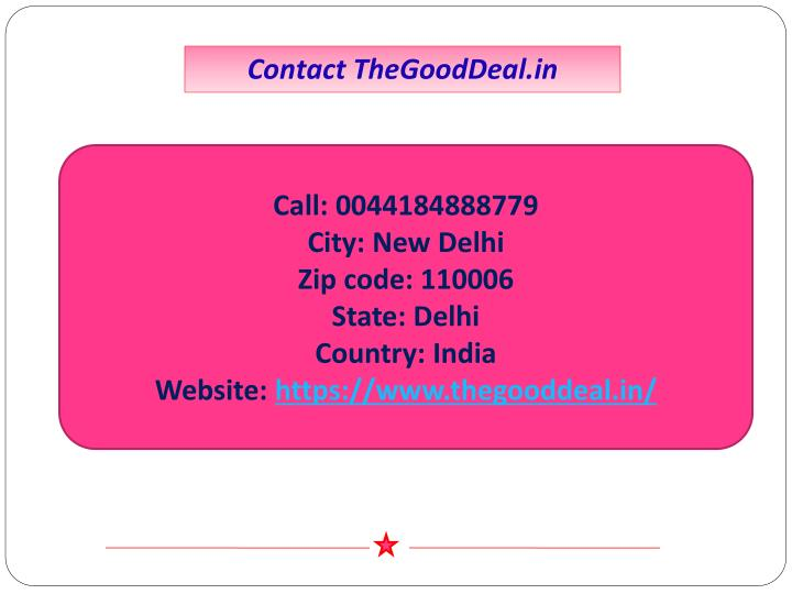Contact TheGoodDeal.in