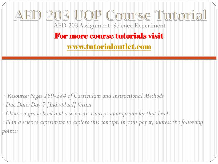 Aed 203 uop course tutorial