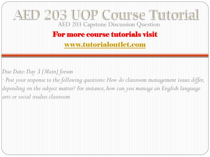 Aed 203 uop course tutorial1