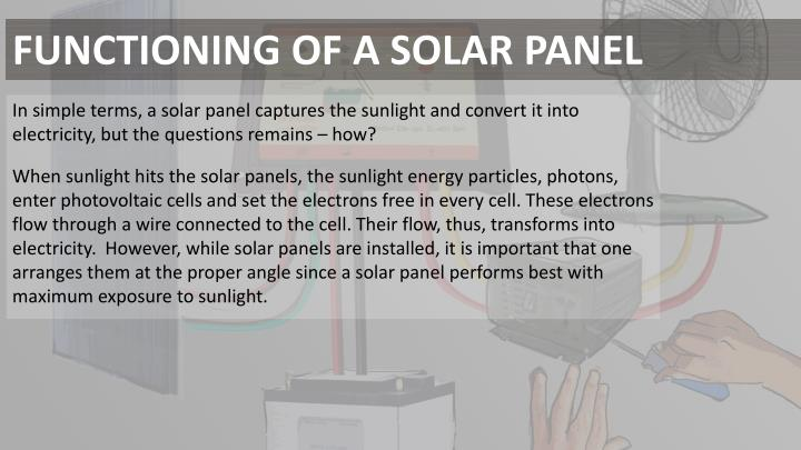 FUNCTIONING OF A SOLAR PANEL