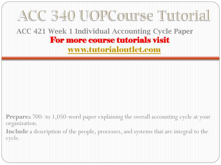 acc 290 uop course tutorial tutorialoutlet Description acc 291 uop course tutorial for more courses visit nowwwwtutorialoutletcom.