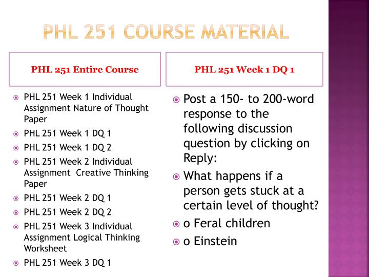 Phl 251 course material