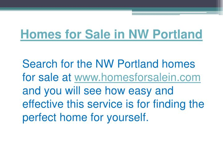 Homes for sale in nw portland1