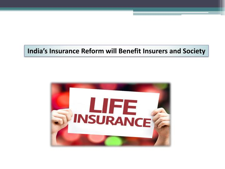 insurance reforms in india