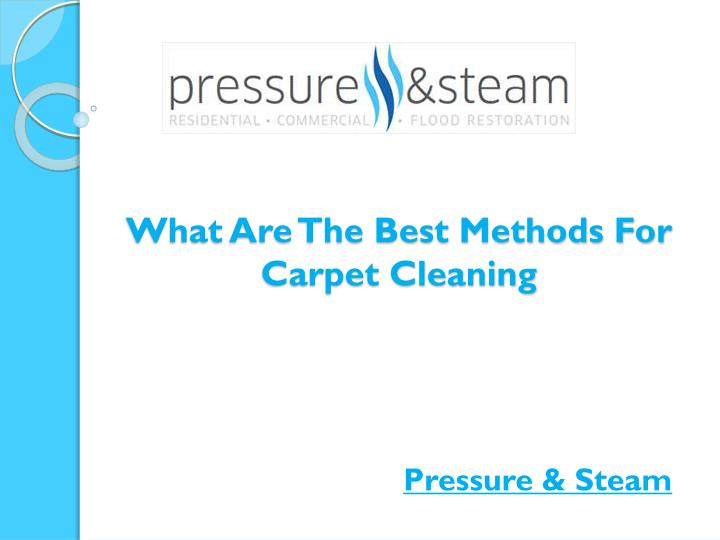 what are the best methods for carpet cleaning n.