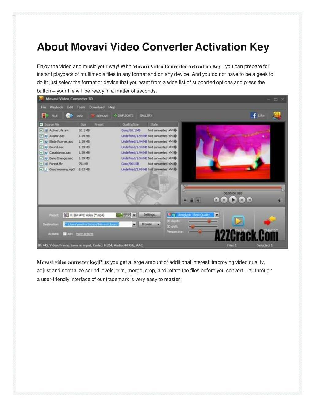 movavi video converter 10 activation key