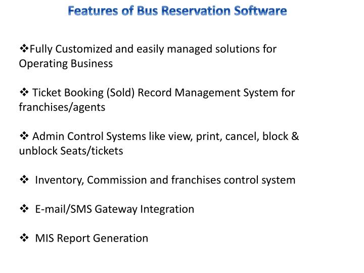 related studies about bus reservation system Online bus reservation system 6034 words | 25 pages a project report on bus reservation system submitted in partial fulfillment for the award of degree of post graduate diploma in information the following are the gathered related proposed system: jeong et al.