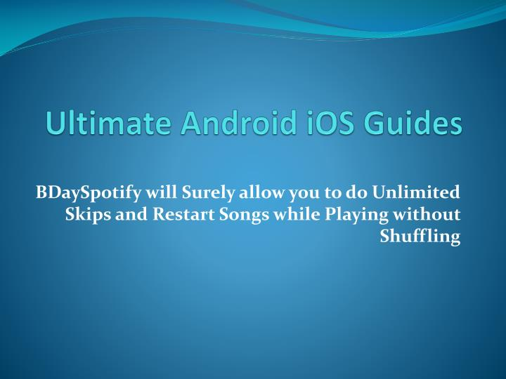 ultimate android ios guides n.