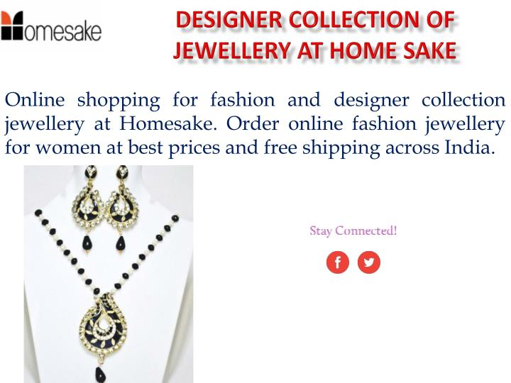 designer collection of jewellery at home sake n.