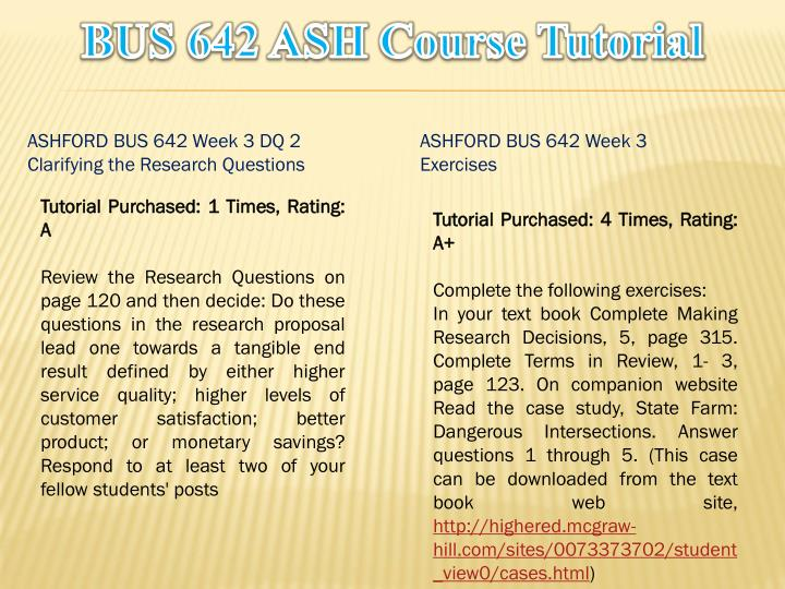 bus 642 week 5 exercises