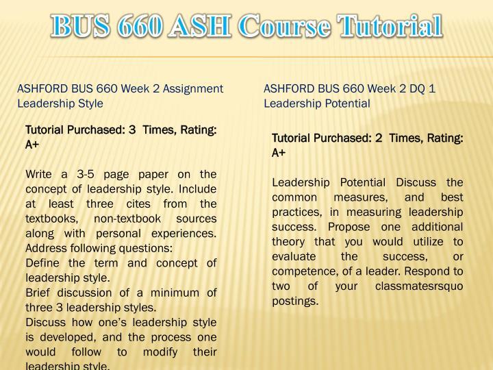 leadership styles bus660 ashford university