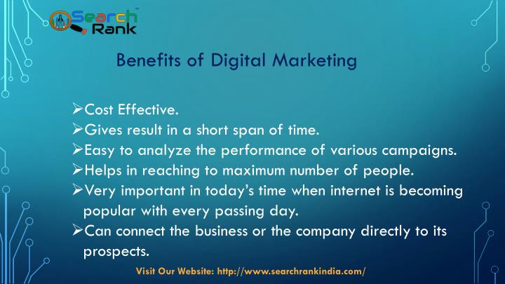 about digital marketing in india ppt Digital marketing industry constantly changes, and you will have to keep track of the changes in order to move ahead in the competition it is also important to.