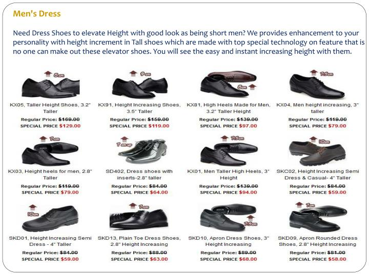 1be214c8717 Men s DressNeed Dress Shoes to elevate Height with good look as ...