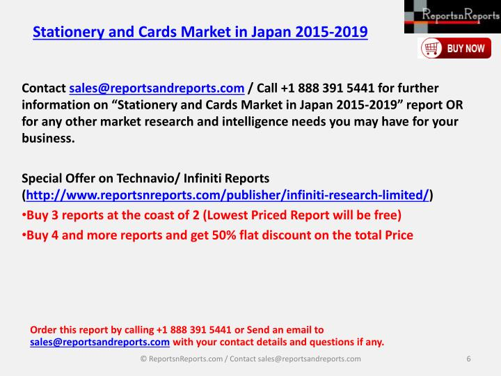 Stationery and Cards Market in Japan 2015-2019
