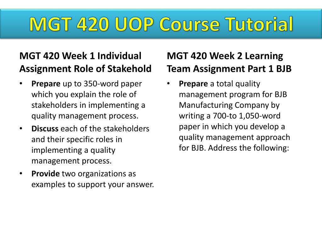 PPT - MGT 420 UOP Course Tutorial/Tutorialrank PowerPoint
