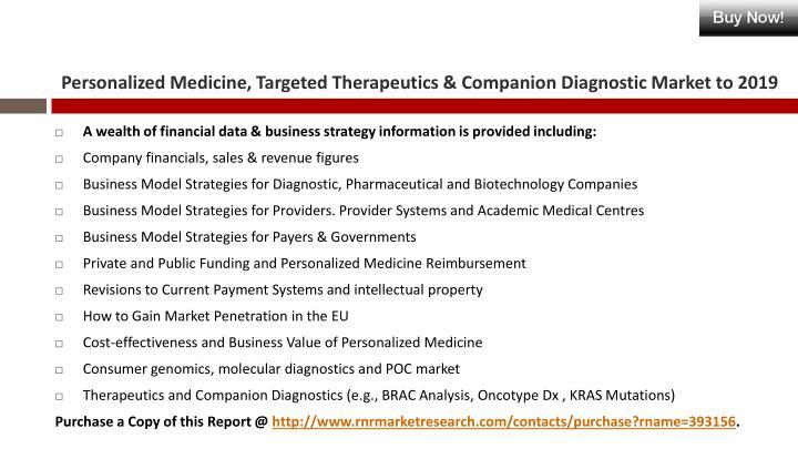 Personalized medicine targeted therapeutics companion diagnostic market to 20191