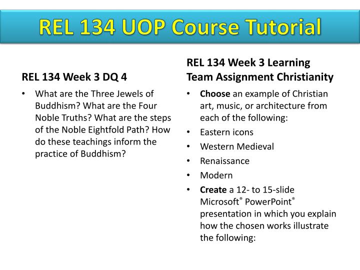 rel 134 week 3 learning team Rel 134 week 3 learning team christianity team project to buy this material click below link.