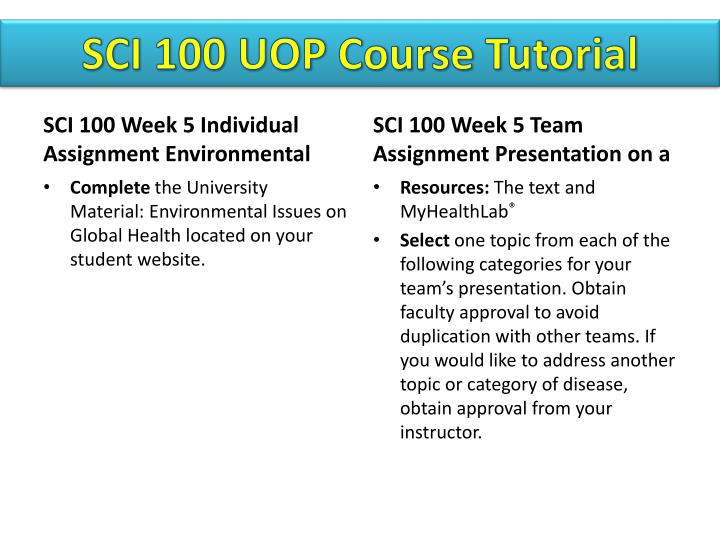 SCI 100 UOP