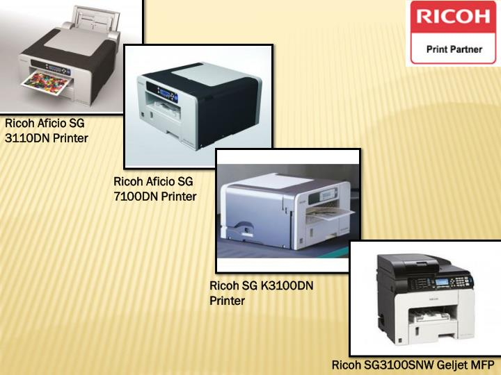 Ricoh Aficio SG 3110DN Printer