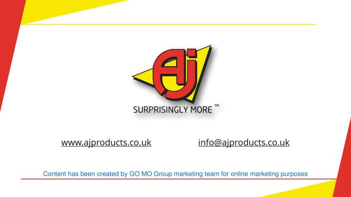 www.ajproducts.co.uk