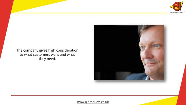 The company gives high consideration to what customers want and what they need.