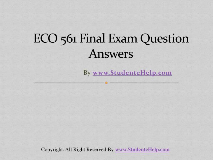 eco 561 final exam question answers n.