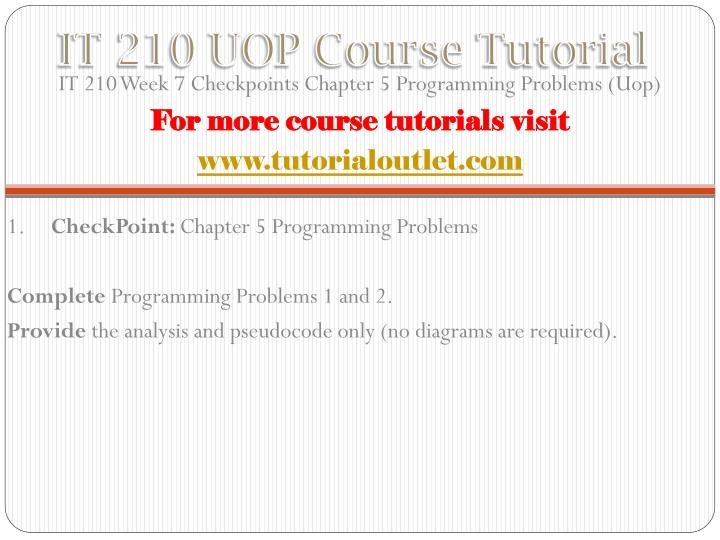 it210 week 2 It 210 week 3 dq 1 and dq 2 - uop tutorial search.