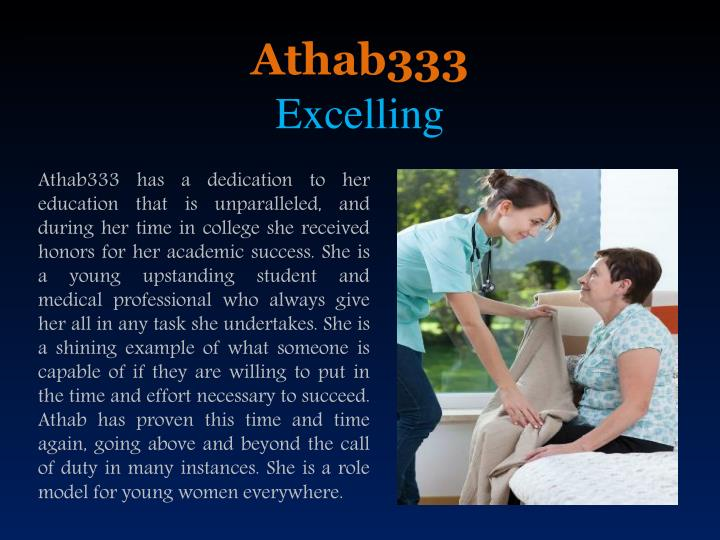 Athab333 excelling