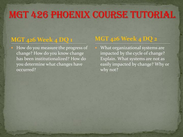 MGT 426 Phoenix