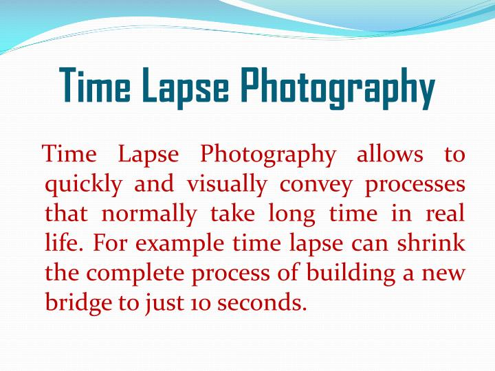 time lapse photography n.