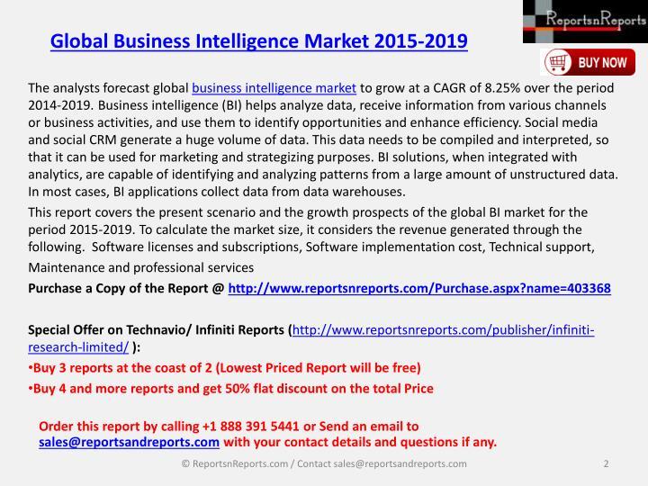 Global business intelligence market 2015 20191